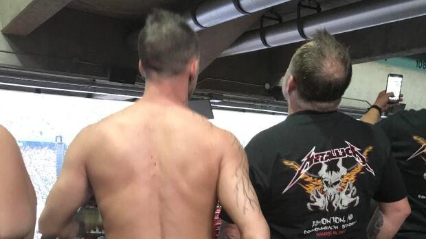 This was Derrick Jones's view at the Metallica concert at Commonwealth Stadium Wednesday night.
