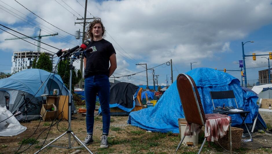 Sugar Mountain Campers Tent City JJ Riach Alliance Against Displacement Aug 17, 2017