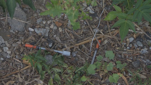 Syringes in the alley