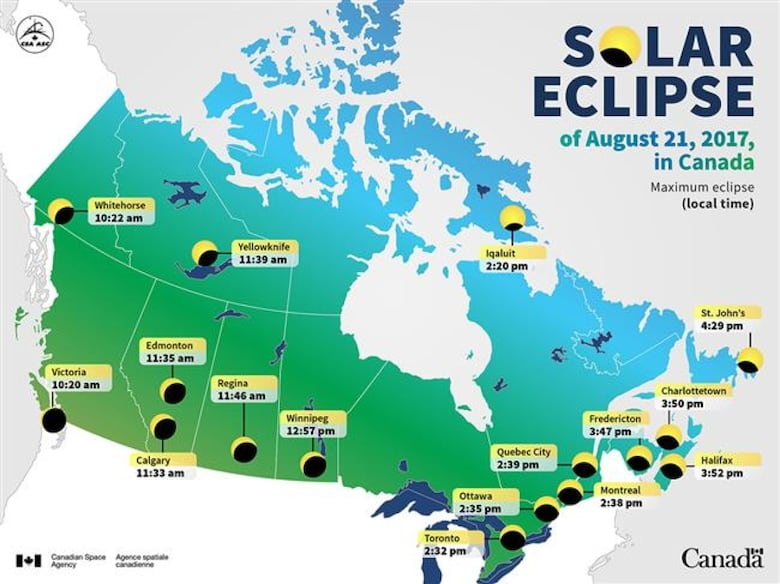 Where When And How To Watch The Solar Eclipse In Toronto CBC News - Toronto canada map