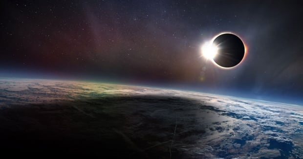 total solar eclipse rendition