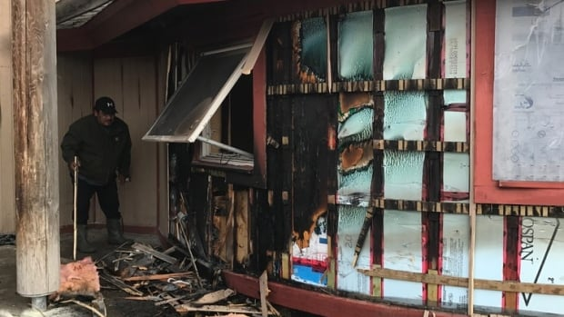Police say fire was set to the band council building around 7:30 a.m.