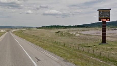 Stoney Nakoda casino highway