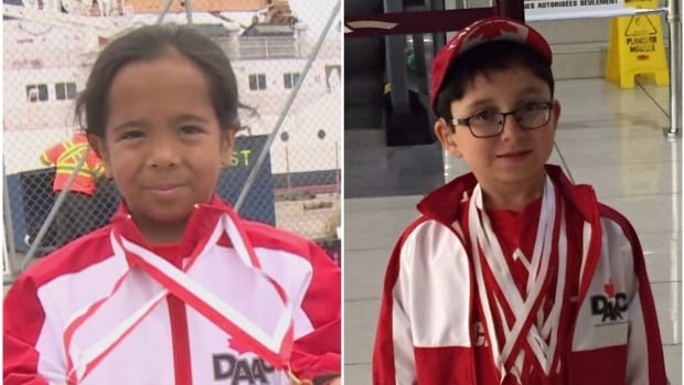 Brooklyn Wolfrey (left) and Nicholas Quinn both netted medals at the World Dwarf Games.