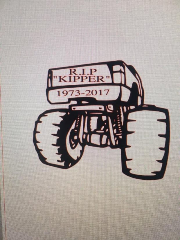 "Car decal for Christopher ""Kipper"" McCulloch"
