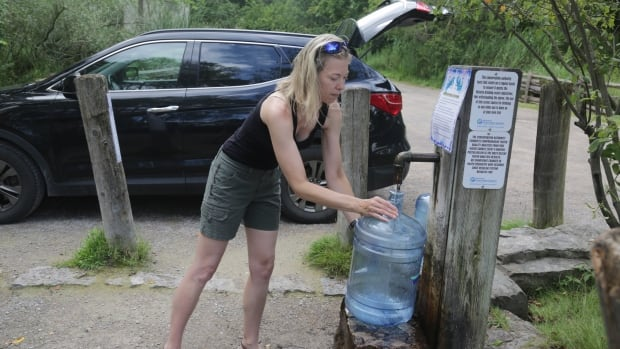 Jenny Voisin has been getting her drinking water from the Sulphur Springs Road well for the last 17 years. She believes the city water is safe, but prefers the taste of the well water over the tap.