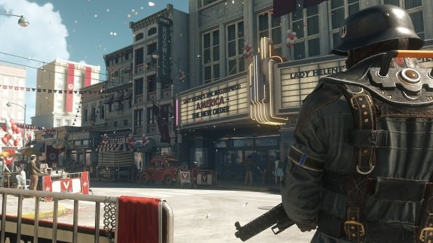 Wolfenstein II: The New Colossus, set for release on October 27, shows an alternate reality in which the Nazis won the Second World War and have taken over the U.S.