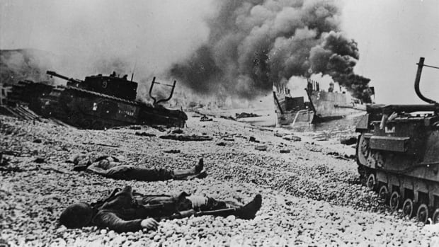 The aftermath of the Dieppe raid on Aug. 19, 1942. The operation left 907 Canadians dead.