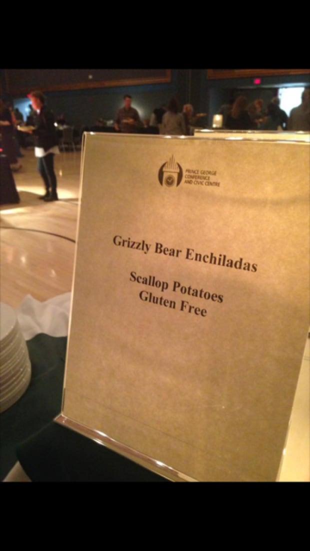 Grizzly bear enchiladas