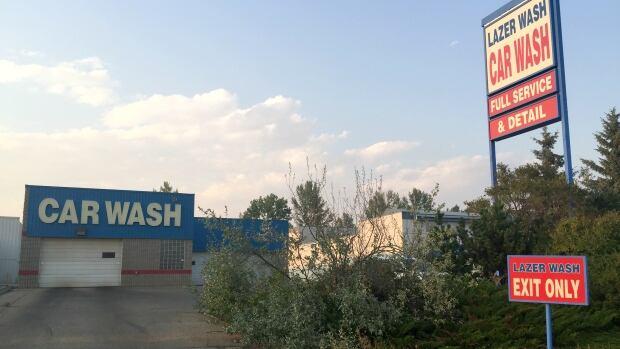 Three men were injured in an explosion at Lazer Wash in Red Deer.