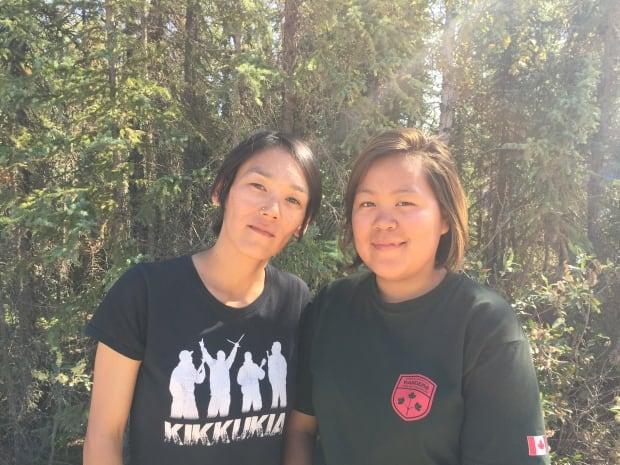 Canadian Ranger Natalie Komak and JCR Pauline Sewoee from Arviat, Nunavut