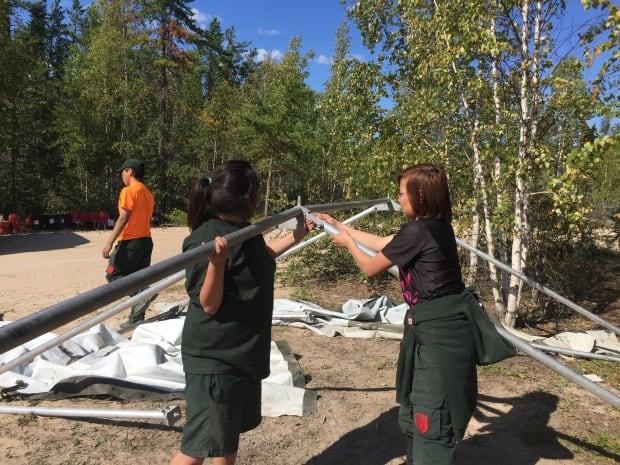 Junior Canadian Rangers mod tents
