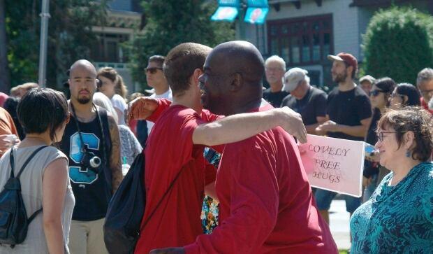 anti racism rally vancouver free hugs