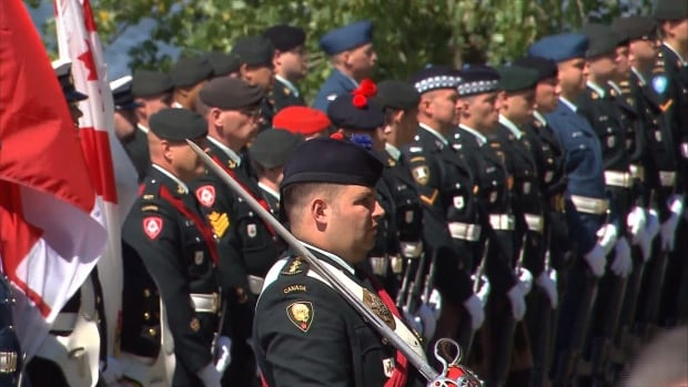 Members of the Canadian Armed Forces paid tribute to those who fought in the Dieppe Raid 75 years ago.