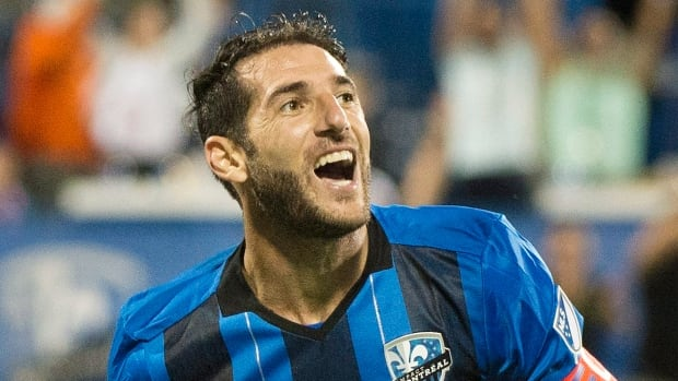Ignacio Piatti of the Impact celebrates after scoring to help Montreal defeat Real Salt Lake 3-1 on Saturday.