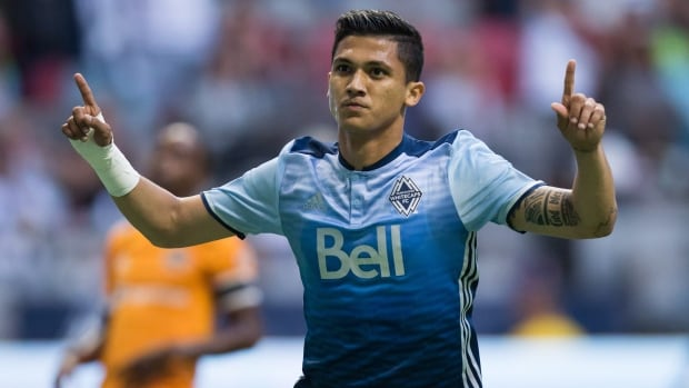 Fredy Montero scored his 10th goal of the season and assisted on another as the Vancouver Whitecaps held on for a 2-1 victory on Saturday evening.