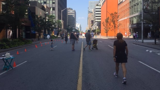 A section of Bloor Street is closed to motorists during the festival.