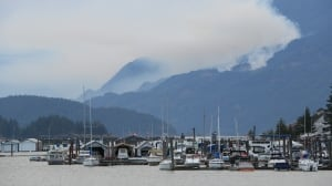 New Harrison Lake wildfire triples in size overnight