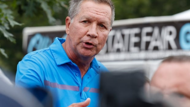 Ohio Gov. John Kasich, shown in July at a state fair in Columbus, appeared on CNN's State of the Union on Sunday and urged President Donald Trump to get White House staff stability.