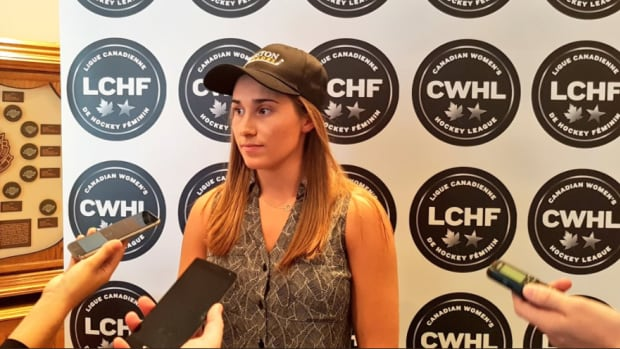 Courtney Turner was selected first overall by the Boston Blades in this year's CWHL draft.