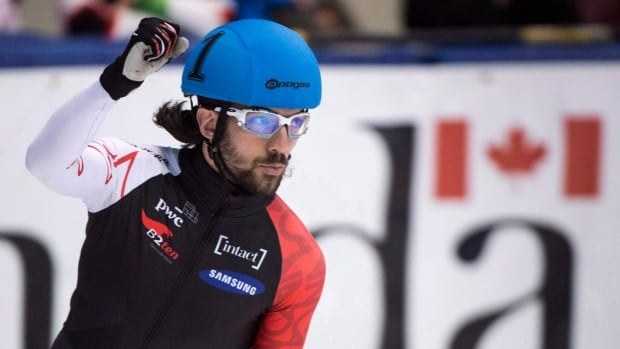 Charles Hamelin, seen in this file photo from 2014, finished second overall at the Canadian short track team selections to qualify for his fourth Olympics.