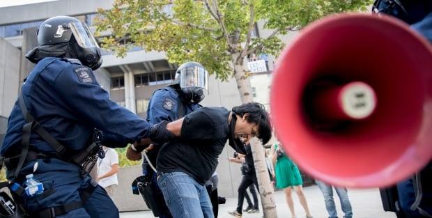 jaggi arrested anti-racist anti-fascist demo