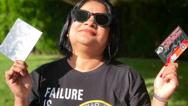 Sharmin Chowdhury brought not one but three different ways to view the total eclipse