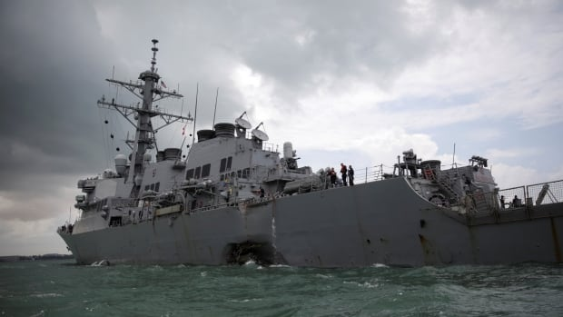 Damage to the hull of USS John S. McCain resulted in flooding to nearby compartments, including crew berthing, machinery, and communications rooms, the U.S. navy said.