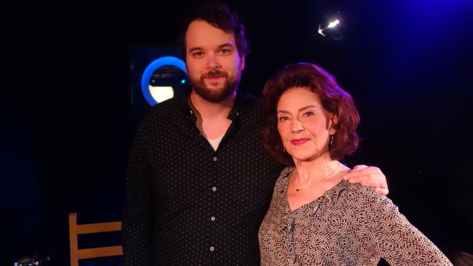 Actress Kelly Bishop and Tom Power in the q studios in Toronto, Ont.