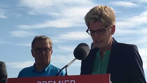 "Ontario Premier Kathleen Wynne was in Thunder Bay on Monday to announce ""support"" for three northwestern Ontario First Nations as they work to establish year-round road access."