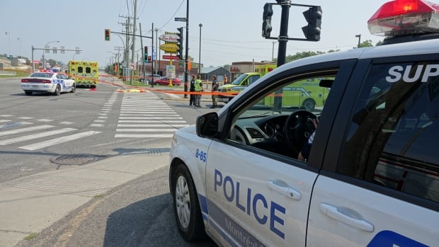 A woman is dead after being struck by a vehicle as she crossed the street.