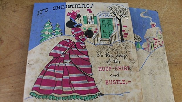 Despite nearing a century in age, the Christmas cards were mostly in good condition.