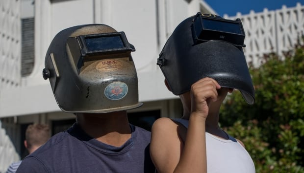 Vancouver eclipse watchers