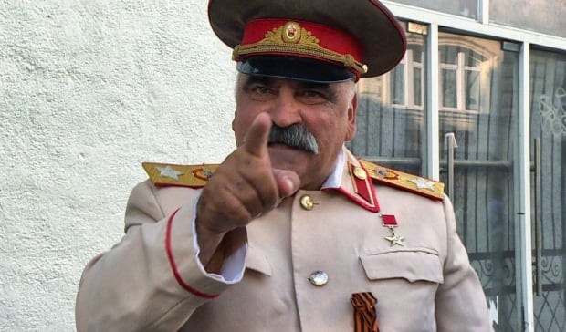 Stalin impersonator