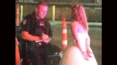 Bride in cuffs