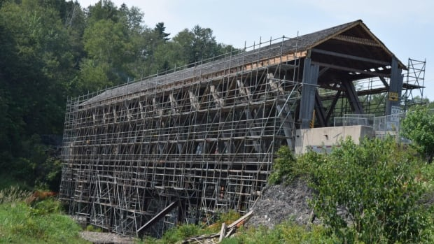 In October, an excavator fell through the bridge that crosses the Hammond River near French Village. When the government examined it further in July, it discovered wood rot.