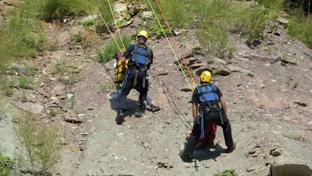 Two people were rescued at Devil's Punchbowl on Monday.