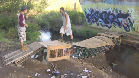 Meet the homeless man who built Abbotsford's 'amazing' shopping cart bridge