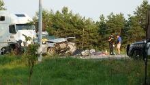 Deadly crash on Highway 401 Aug. 21, 2017