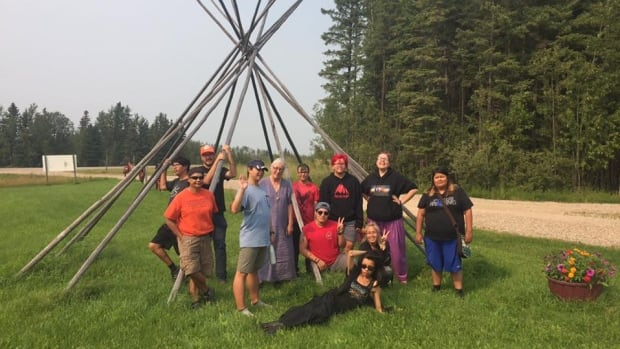 About 15 people gathered near Pine River, Sask. for the Out on the Land camp for two spirit and transgender people.