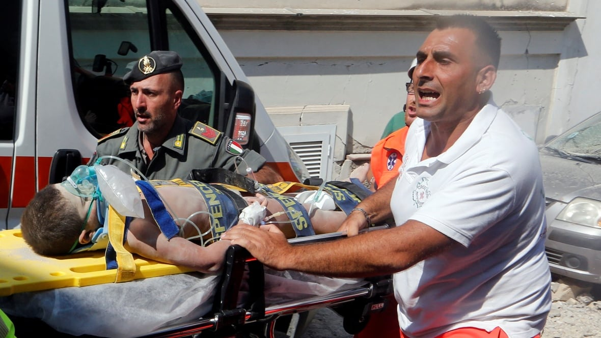 3 children pulled from rubble after Italian earthquake