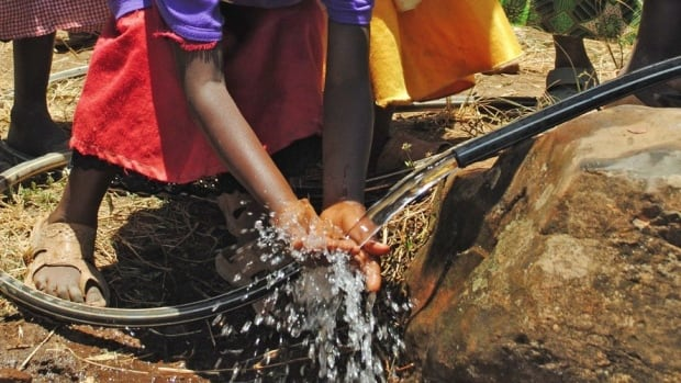 Access to clean water is a key need for the people of Mageta Island.