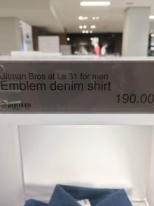 'Squaw Valley' shirt sale price
