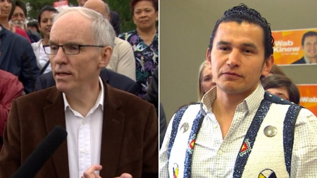 Steve Ashton, left, and Wab Kinew are the two candidates for the leadership of the Manitoba NDP.