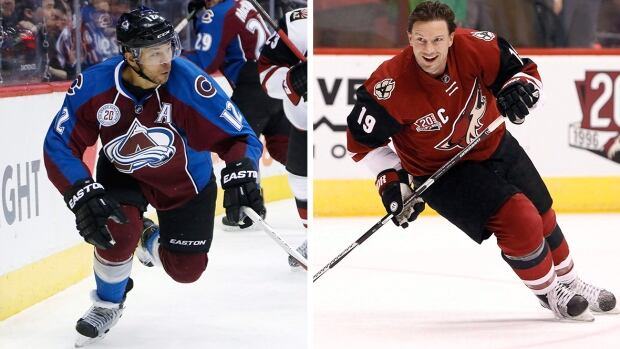 Jarome Iginla, left, and Shane Doan could be options for team Canada if they decide not to play in the NHL this upcoming season.