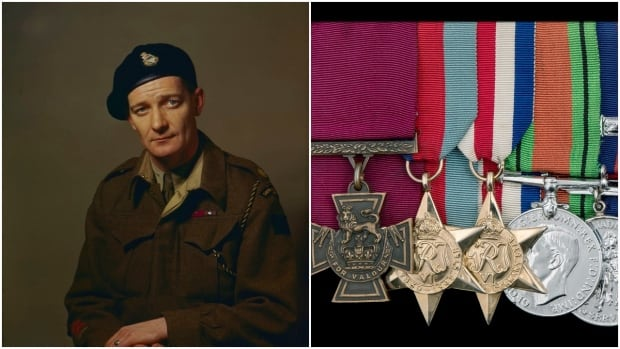 Lt.-Col. David Currie was awarded the Victoria Cross for his role in the 1944 Normandy campaign during the Second World War.