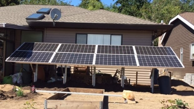 Hans Wekking installed this solar panel behind a home in Surrey.