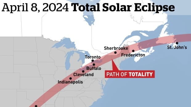 The 2024 solar eclipse will pass over western P.E.I.