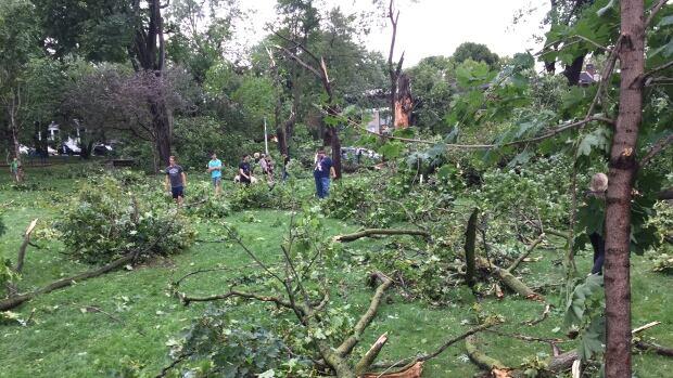 storm damage girouard park