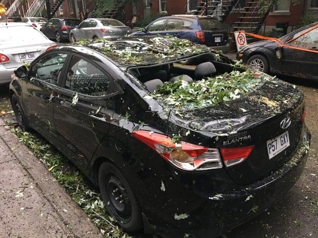 car damage storm